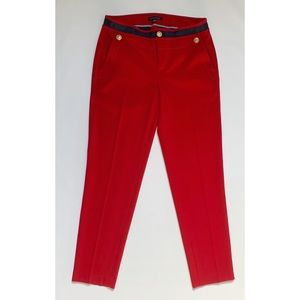 Tommy Hilfiger military style red trouser pants